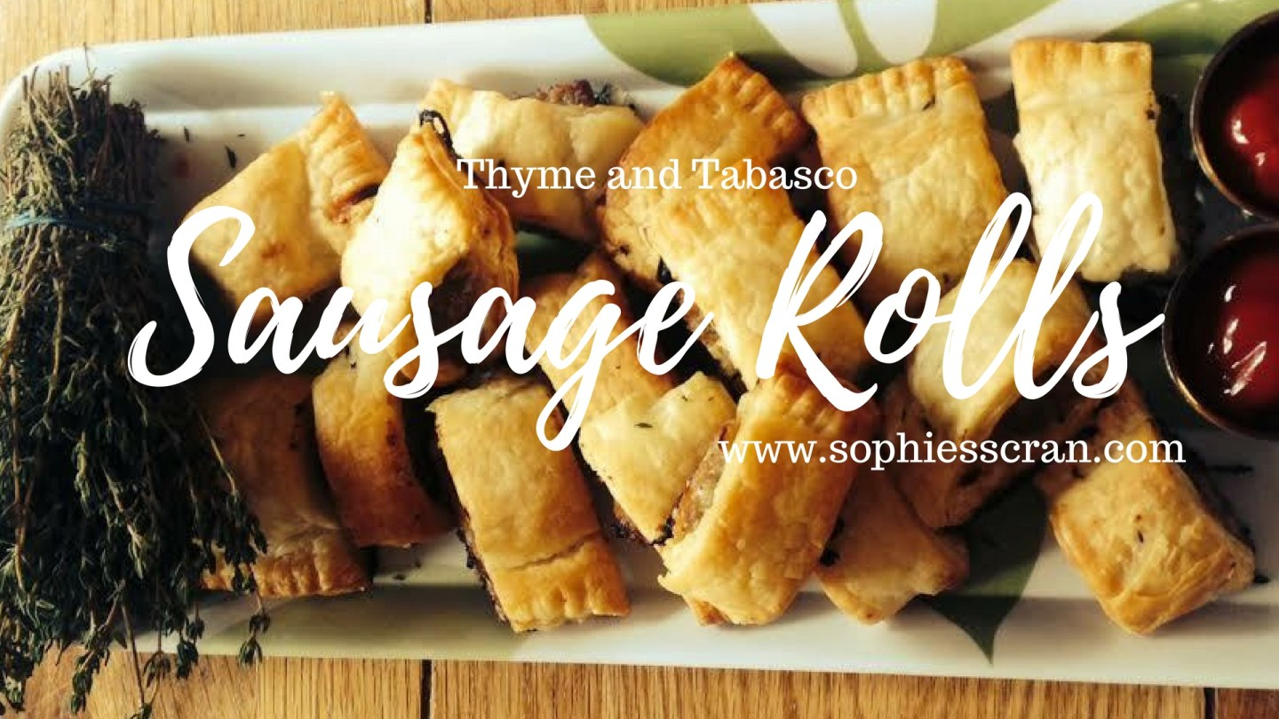 Thyme and Tabasco Sausage Rolls