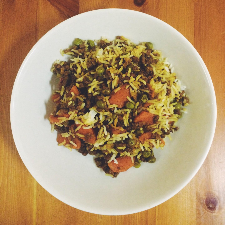 Beef Keema Curry with Steamed Basmati Rice