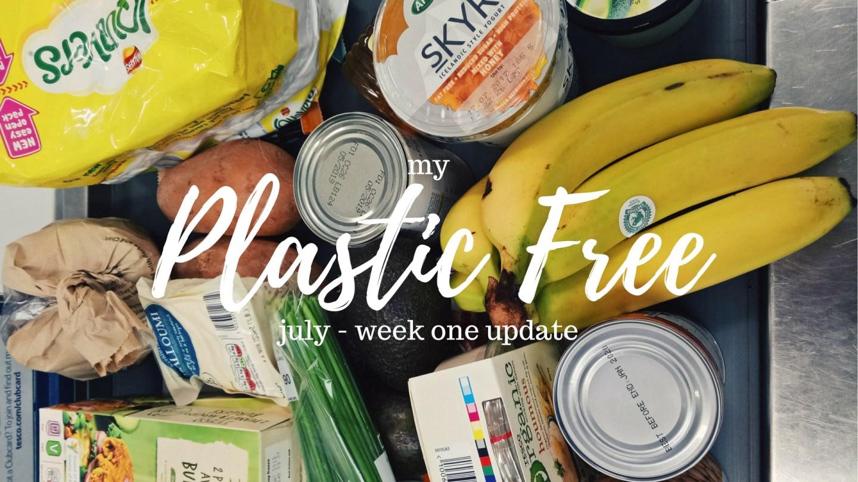Plastic Free July: week one update