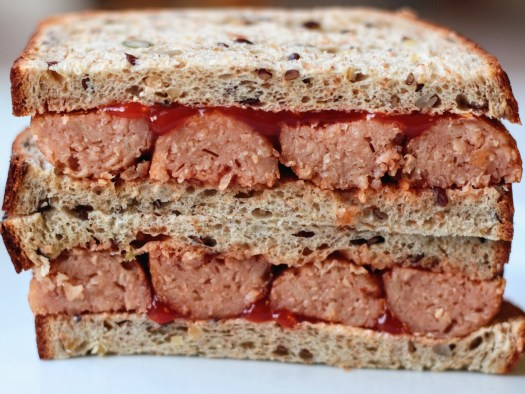 How to make a vegan sausage sandwich