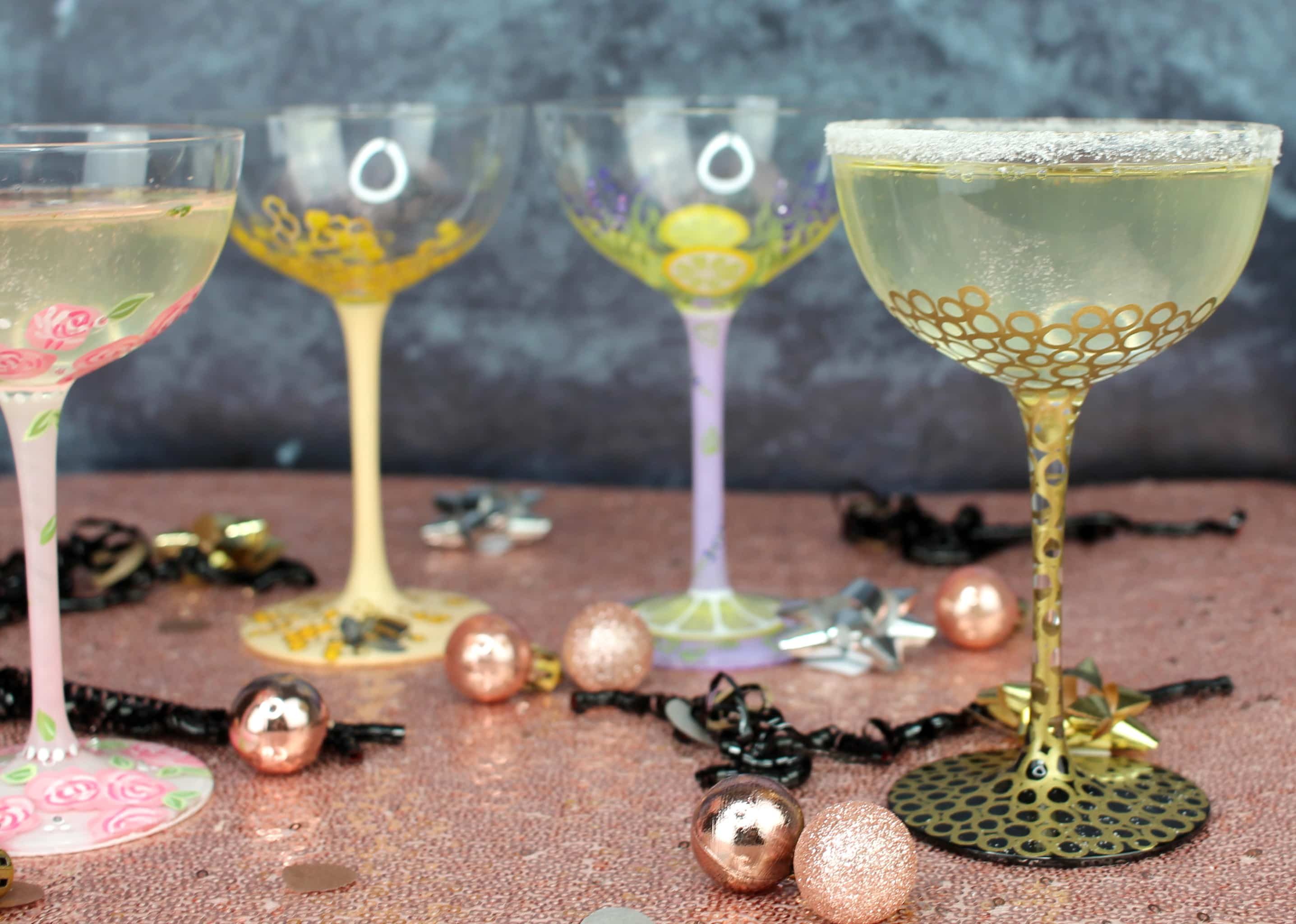 Elderflower Prosecco Fizz Cocktails Lolita glasses