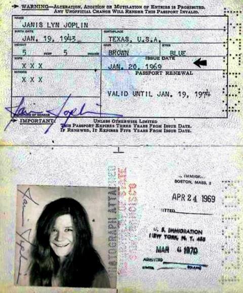 pasaporte janis joplin