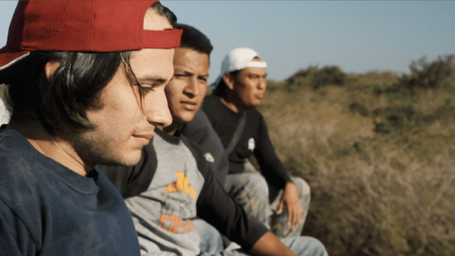 Gael Garcia Bernal sings with migrants as they ride the train through Mexico, towards the USA - Feb 2011