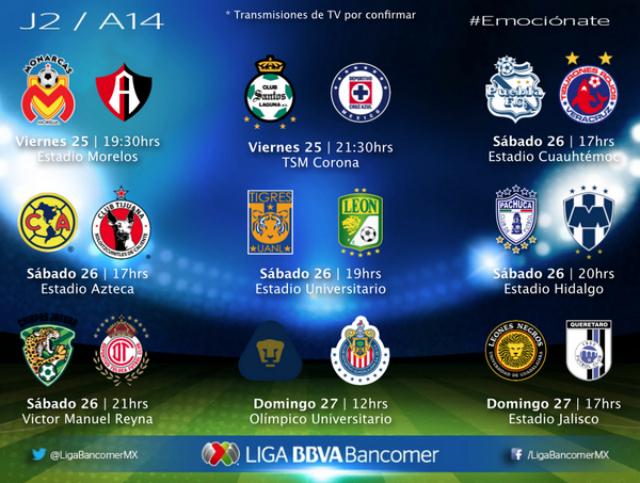 jornada 2 liga mx 14