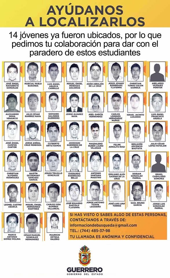 maestros normalistas desaparecidos #iguala