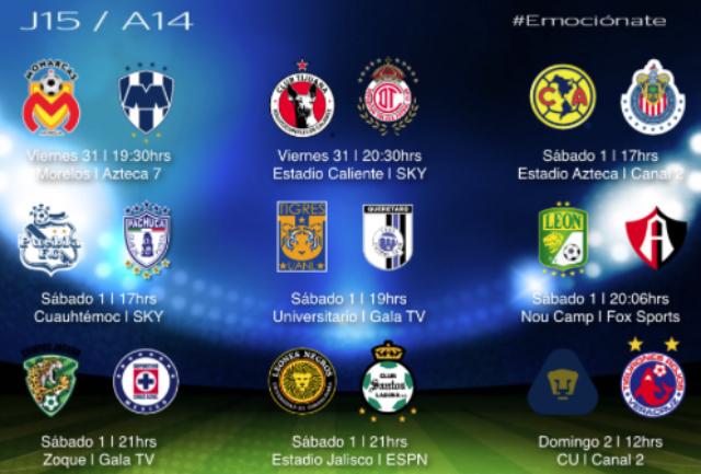 jornada 15 liga mx