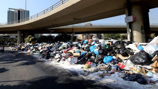 basura líbano