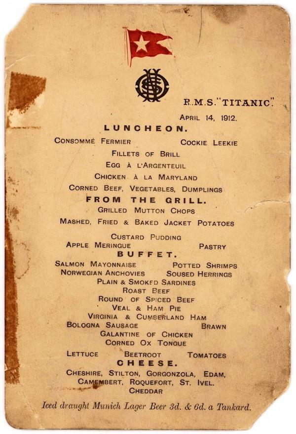 titanic-menu