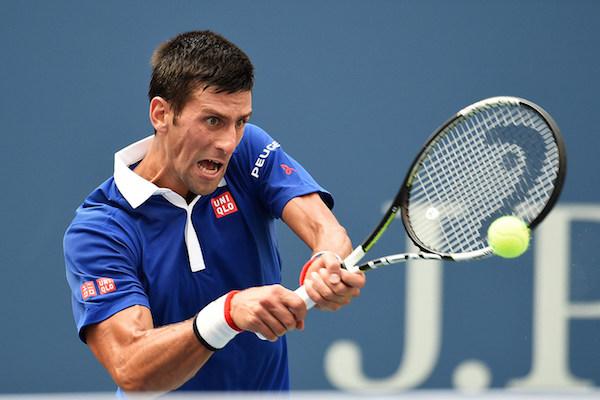 September 4, 2015 - Novak Djokovic in action in a men's singles third-round match against Andreas Seppi during the 2015 US Open at the USTA Billie Jean King National Tennis Center in Flushing, NY. (USTA/Garrett Ellwood)