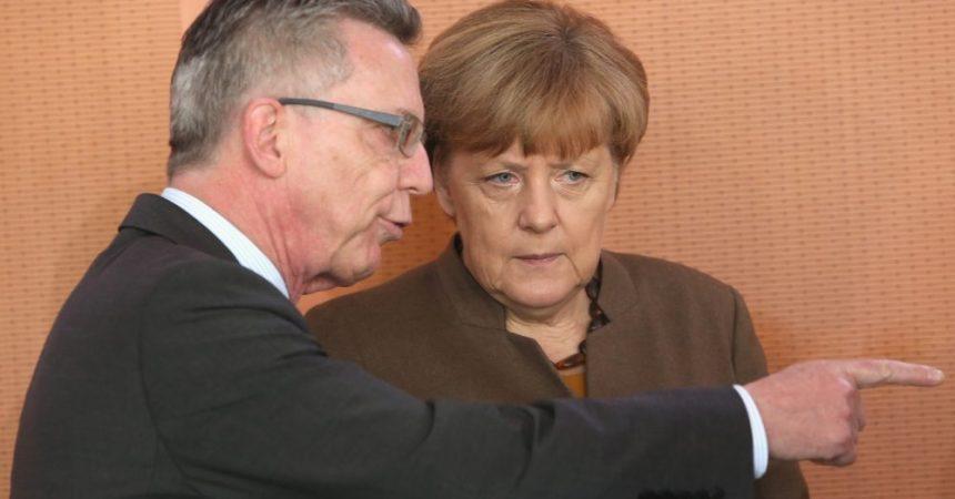 El ministro del interior y la canciller alemanes