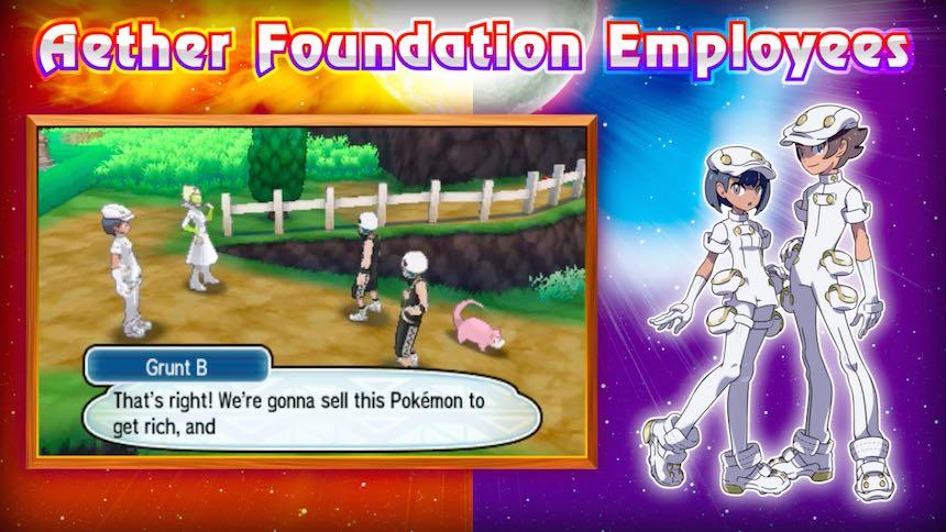 Empleados Aether Foundation Pokémon Sun/Moon