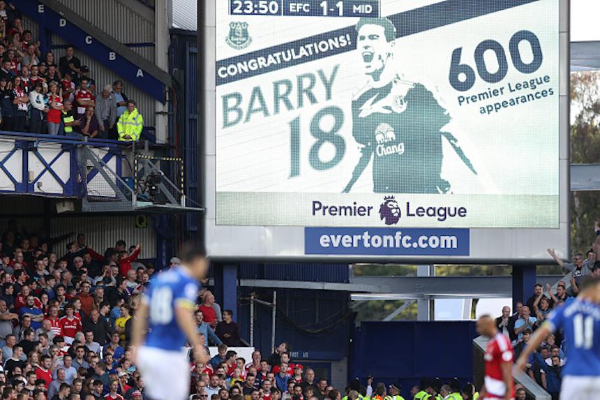 Gareth Barry y sus 600 partidos