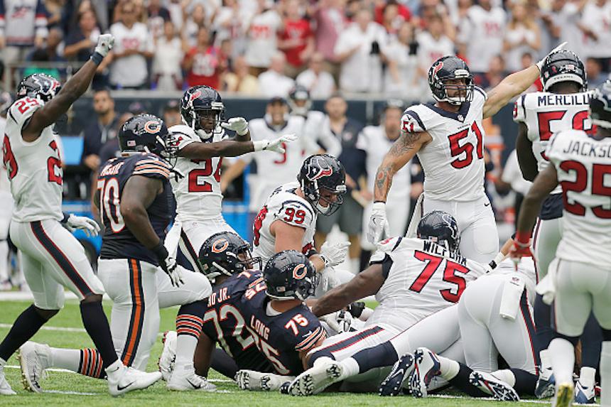 La defensiva de los Houston Texans.