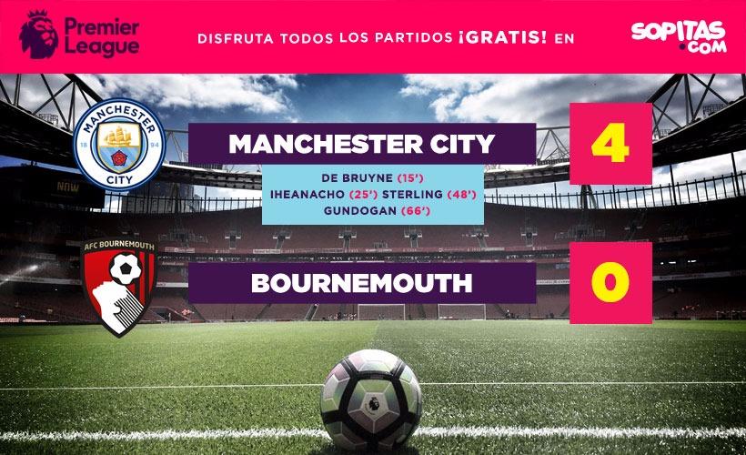 El Manchester City venció sin problemas al Bournemouth