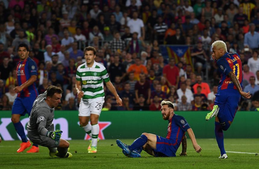 Messi logró tres goles en el partido