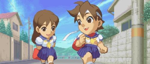 Sakura y Kei Street Fighter