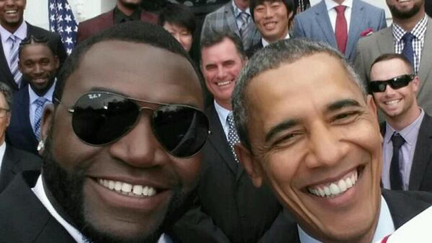 Selfie de David Ortiz con Barack Obama