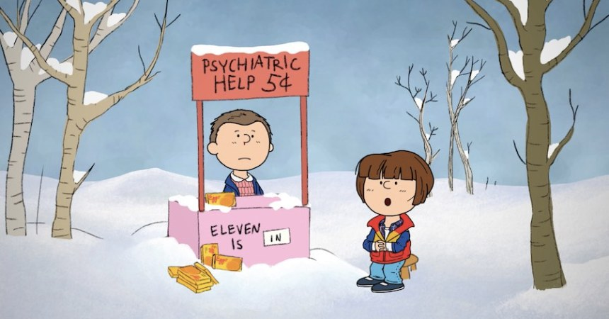 Charlie Brown y Stranger Things Portada