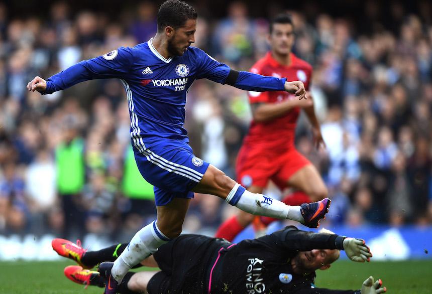 Eden Hazard volvió a jugar muy bien, después de semanas de no estar a su nivel