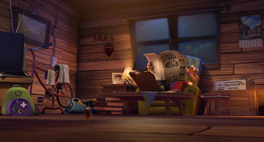 Condorito leyendo el periódico