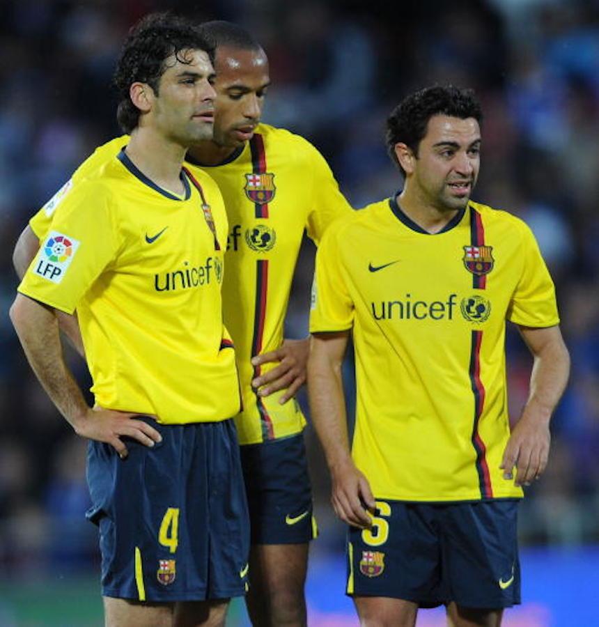Rafael Márquez con el Barcelona