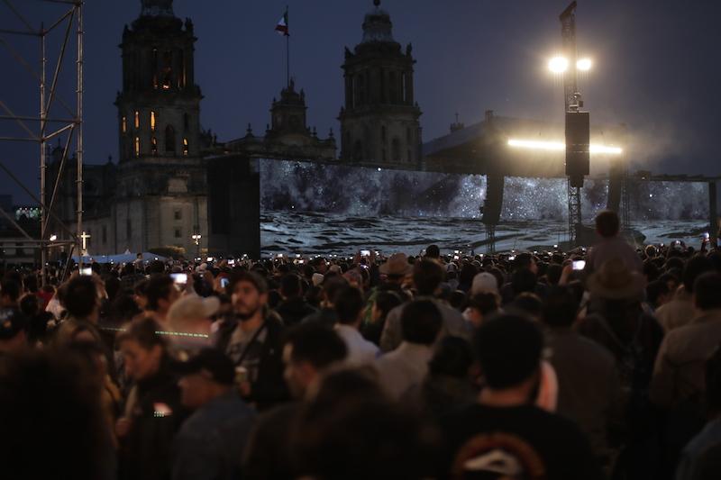 Los mejores momentos del concierto de Roger Waters en el Zócalo