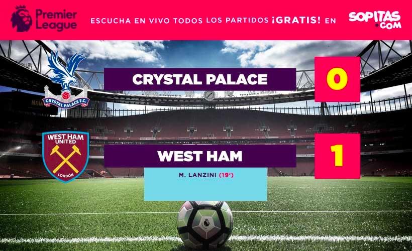 West Ham ganó al Crystal Palace y sorprendió a toda la Premier
