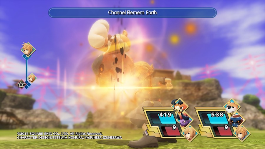 World of Final Fantasy Habilidades
