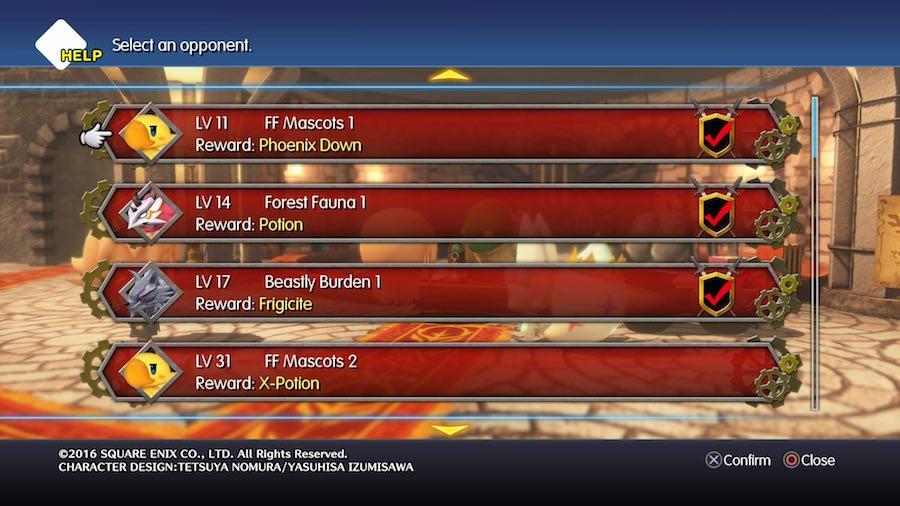 World of Final Fantasy Coliseo