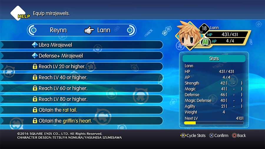 World of Final Fantasy Mirajewels