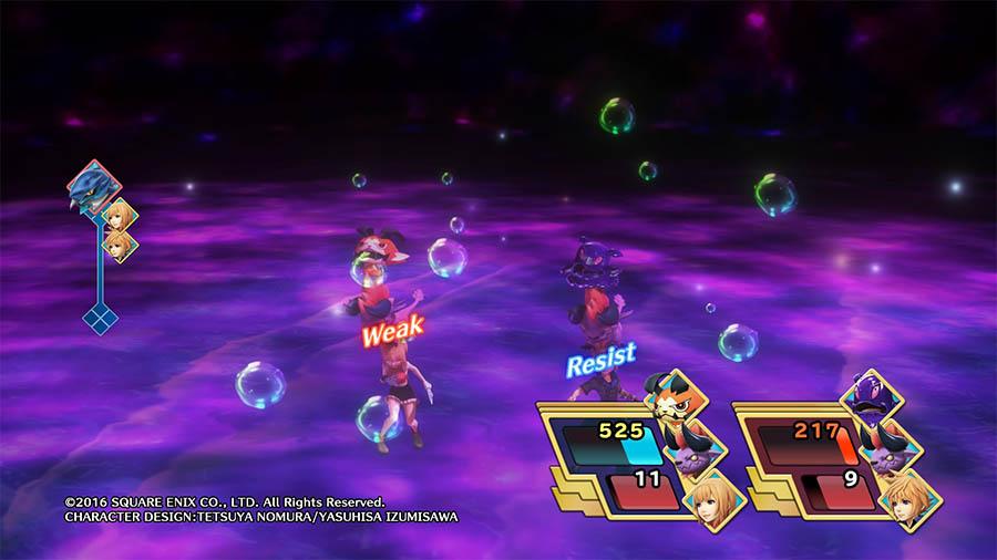 World of Final Fantasy Resistencias/Debilidades