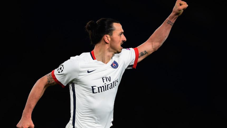 Zlatan Ibrahimovic brilló con el PSG