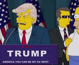Donald Trump es Presidente en los Simpsons