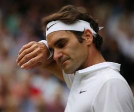 Roger Federer triste