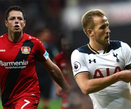 Chicharito Hernández y Harry Kane