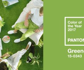 Verde Color del Ano Pantone