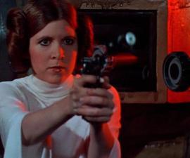 Carrie Fisher como Leia Organa