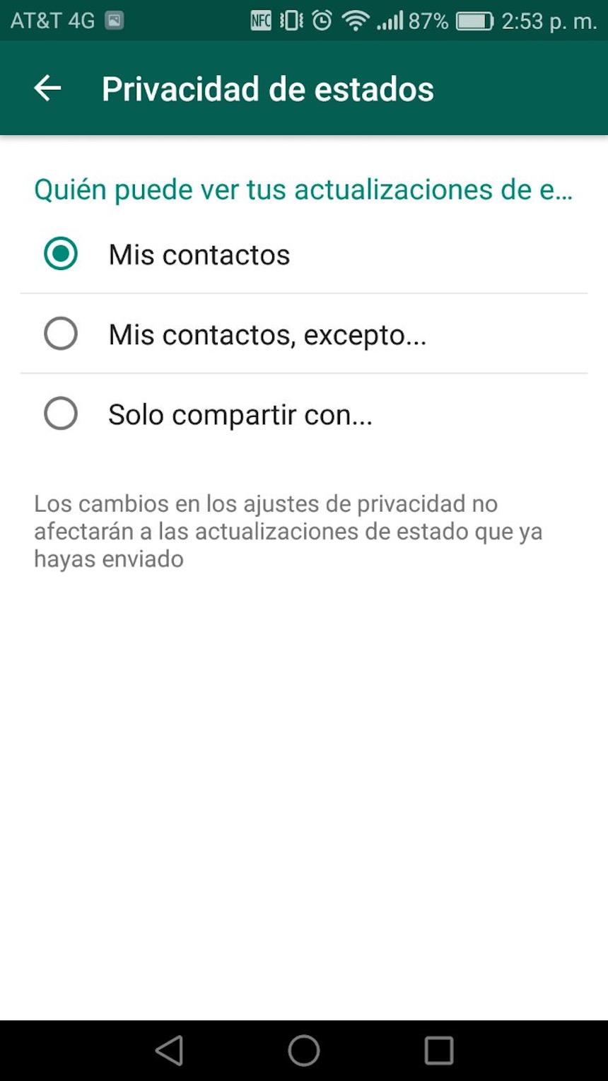 Privacidad - WhatsApp
