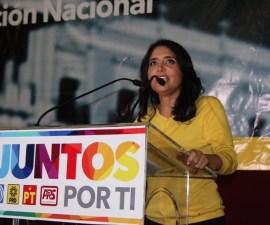 Alejandra Barrales, presidenta del PRD
