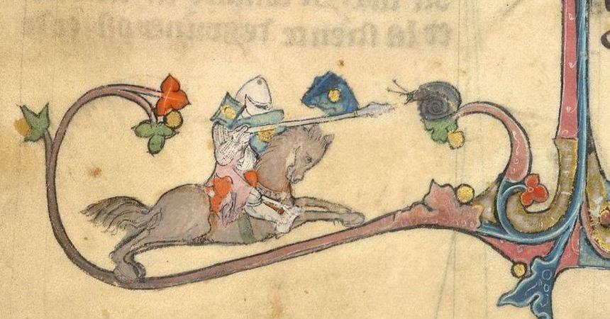 Combate a muerte entre caballero y caracol