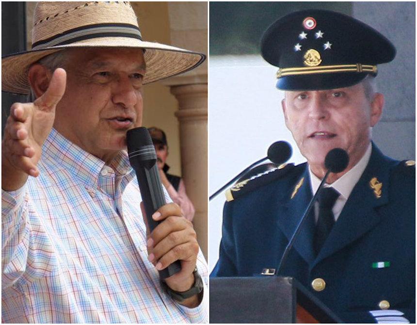 General Salvador Cienfuegos y Andrés Manuel López Obrador
