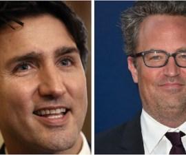 Matthew Perry y Justin Trudeau