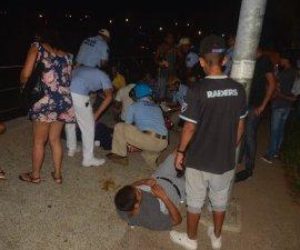 Fotografía en el lugar de la balacera en Acapulco