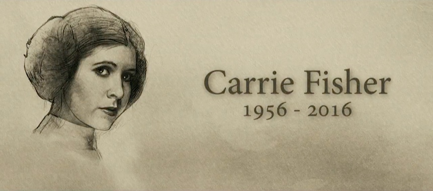 Carrie Fisher - Tributo de MArk HAmill