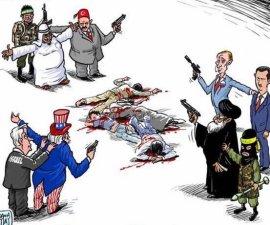 Cartón de la situación en Siria.