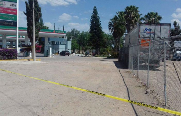Imagen de la gasolinera abastecida con combustible robado