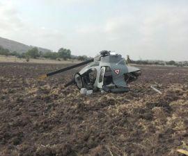 Se desploma helicóptero en Huehuetoca, Estado de México