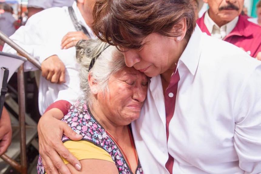 Delfina Gómez, candidata de Morena a la gubernatura del Estado de México
