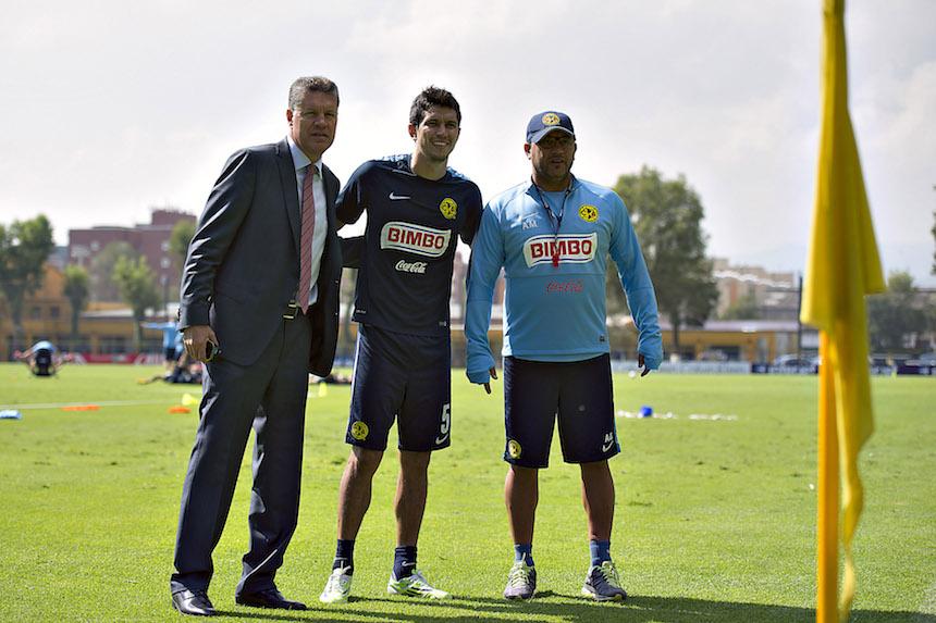 Ricardo Peláez con Antonio Mohamed y Jesús Molina