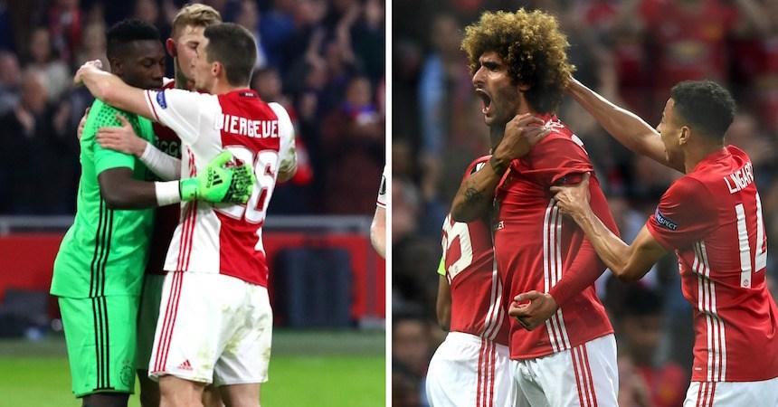 Ajax vs Manchester United, final de la Europa League